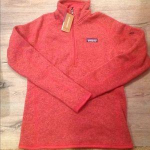 New women's s Patagonia better sweater red fleece